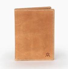 Elevate Handmade Leather Goods Camel Brown Passport Wallet New
