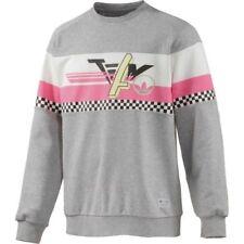 Adidas Originales Para Hombre Equipo Cuello Redondo Suéter Jumper Gris Oscuro Nuevo S14543 XL