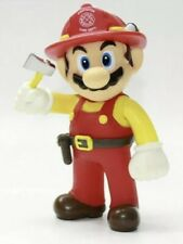 "Super Mario Firefighter 5"" Cake Topper Collection Figure Toys, Party Supply"