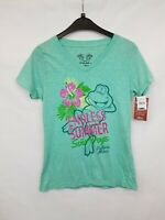 SENOR FROG'S Ladies t-shirt green cotton blend size S new with tags 02