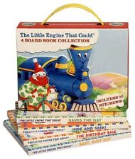 The Little Engine that Could 4 Board Book Box Set Birthday Bike,Saves the Day +