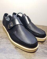 Clarks Men's Burcott Monk Sz 10 Black Leather Casual Shoes  EUR 43