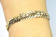 Women's 10k Solid Gold Greek/Roman Designer Bracelet 8.0MM wide 7.0in long