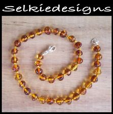 EXCLUSIVE - GENUINE BALTIC AMBER NECKLACE - COGNAC - Jewellery Beads FREE POST