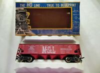 """AHM 5460 HO Scale Vintage Open Top 40' 70 Ton Quad Hopper """"M.&St.L."""""""