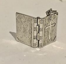 Vintage Sterling Silver 925 The Lords Prayer Holy Bible Charm signed JMF CO