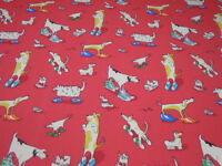 SANDERSON CURTAIN FABRIC  DOGS IN CLOGS  5 METRES DK1584