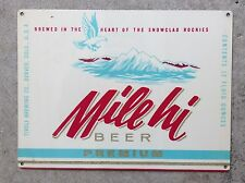 Mile Hi Beer Tivoli Brewing Co Beer Label Denver Co Colorado Vintage Metal Sign
