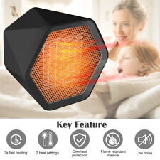1000W Mini Ceramic Electric Heater Home Office Space Heating Portable Fan Silent