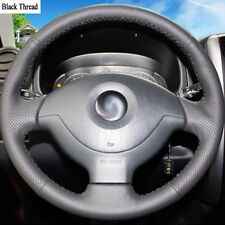New DIY Sewing-on PU Leather Steering Wheel Cover Exact Fit For Suzuki Jimny