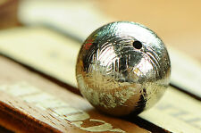 Genuine Natural Gibeon Iron Meteorite Round Bead Only One 14mm 8.5G
