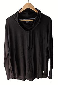 Calvin Klein Performance Stretch Women's Size M  Pullover Cowl Neck Black Top