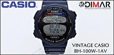 Vintage-Casio BH-100W-1AV. Bio Graph, WR.50M - QW.946 Japan Year 1991