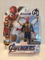 2018 Marvel Avengers Endgame Spider Man Iron Spider 6'' Action Figure New HTF