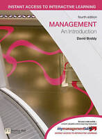 Management: An Introduction, Boddy, David, Used; Acceptable Book