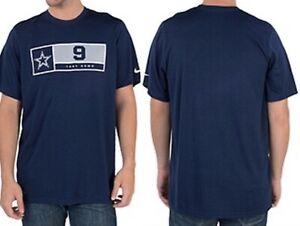 Nike Dallas Cowboys Romo Legend Name & Number Tee Blue Shirt  Dri-fit New