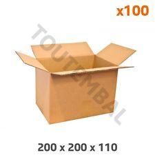 Petit carton d'emballage en cannelure simple 200 x 200 x 110 mm (par 100)