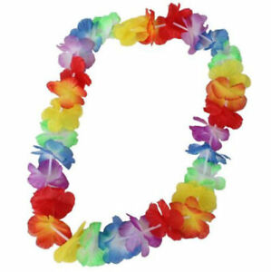 10X Fancy Hawaiian Flower leis Garland Necklace Dress/Party/Hawaii/Beach/Fun New
