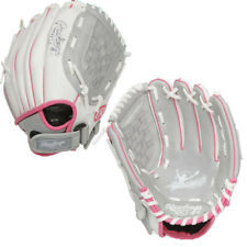 "Rawlings 10.5"" Youth Girls' Fastpitch Softball Glove White/Pink/Grey"