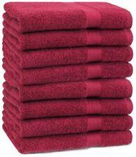 Betz lot de 8 serviettes de toilette Premium 100% coton 50x100 cm rouge foncé