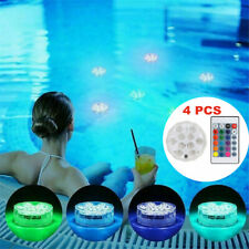 More details for 4pc led submersible lights waterproof hot tub underwater light swimming pond led