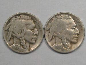 2 Better-Date US Buffalo Nickels: 1919 & 1925.  #77