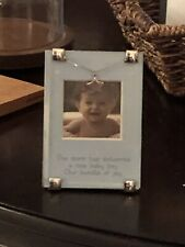 """Newborn Picture Frame """"The Stork Has Delivered A New Baby Boy Our Bundle Of Joy�"""
