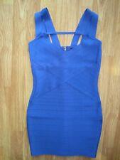 WOMENS MARCIANO BY GUESS ROYAL BLUE STRETCH BANDAGE BODYCON DRESS MEDIUM M NWT
