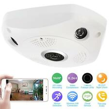 Wireless Wifi 960P HD VR IP Camera Fish Eye Panoramic CCTV Camera 1.44mm Lens