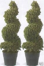 2 ARTIFICIAL TREE IN OUTDOOR TOPIARY PLANT ARRANGEMENT