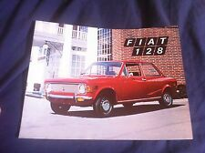 1971 Fiat 128 USA Market Original Brochure Prospekt