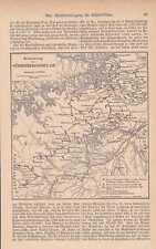 Schwäbische Alp Wasserversorgung Bewässerung KARTE von 1884 Wasserreservoirs