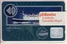 CARTE TELEPHONIQUE BATEAU ISLE OF MAN 1991 PAQUEBOT