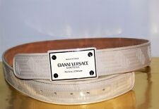 $755 GIANNI VERSACE COUTURE UNISEX PATENT LEATHER  SIZE 90/36 BELT MADE IN ITALY