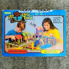 Vintage Paul Bunyan Play Town Wooden Children's Toy Set Lincoln Logs Good Ideas