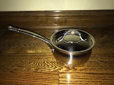 New Ruffoni Vitruvius Stainless Steel & Copper Covered Sauce Pot 1.5 Quart Italy