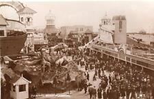 Pleasure Beach Blackpool Fairground Amusement Park RP pc used 1934 Miller