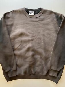 Vintage 90s Heavyweight Lee Sun Faded Black Sweatshirt Blank XL Sweater 50/50