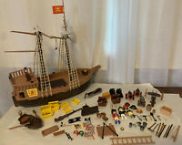 Playmobil Vintage Pirate Ship And Figures Set EUC RARE 3050 Incomplete