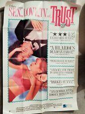 TRUST (VIDEO DEALER 40 X 27 POSTER!, 1990S) ADRIENNE SHELLY, MARTIN DONOVAN