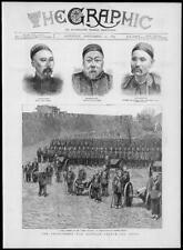1883 Antique Print - CHINA FRANCE War Chang Tang Sing Green Turbans  (195)
