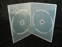 100 X Double Clear Slim 7mm Spine DVD/CD/BLU RAY Case - Branded Dragon Trading®
