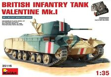 Miniart 1/35 British INFANTRY TANK Valentine Mk.I w/Crew #35116 *Sealed*