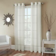 Crushed Voile 108-Inch Grommet Top Sheer Window Curtain Panel in Ivory