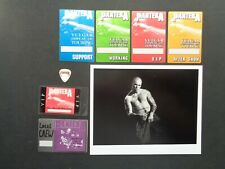Pantera,B/W Promo Photo,6 Rare Original Backstage Passes,Guitar pick