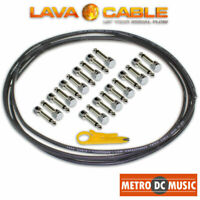 Lava Cable Pedal Board Kit 10 ft Black Tightrope Solder-Free Cable + 20 V2 Plugs