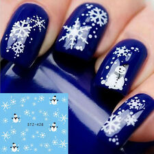 Christmas Snowflake Design Nail Art Water Decals Transfer Stickers Manicure Xmas