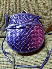 Vintage BOTTEGA VENETA  Metallic Purple Woven Small CROSS BODY BAG HANDBAG