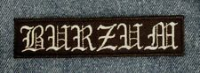 1BURZUM Embroidered Patch IRON/SEW ON Black Metal USA Seller