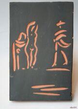 PABLO PICASSO Authentic Madoura Ceramic Woman and Toreador tile plaque Ramié 541